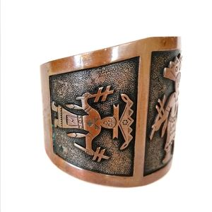 Native American Symbols-Solid Copper Cuff